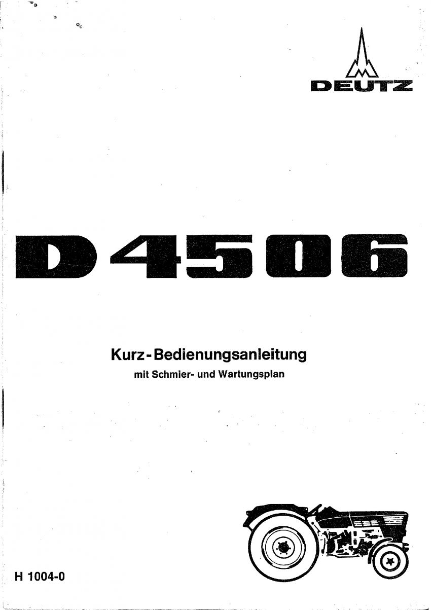 Deutz D4506 - Bedieningshandleiding