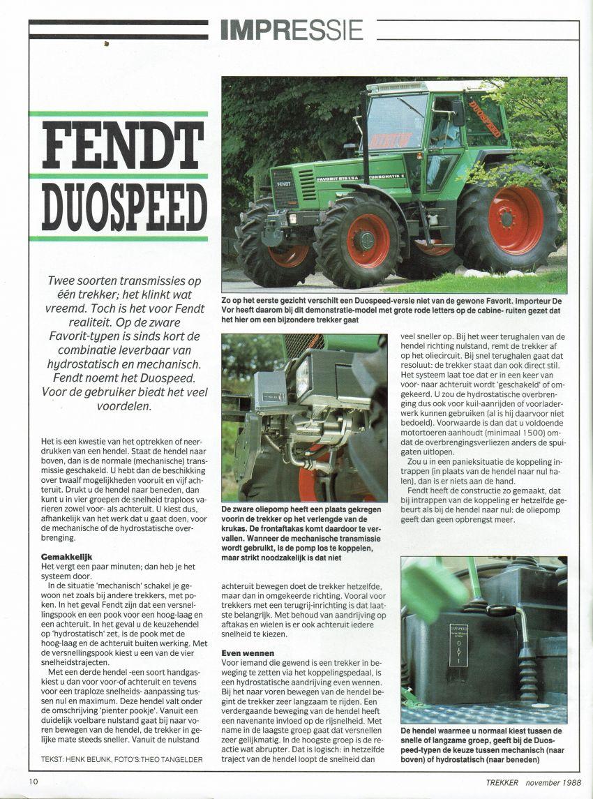 Fendt 615 Impressie duospeed door Henk Beunk