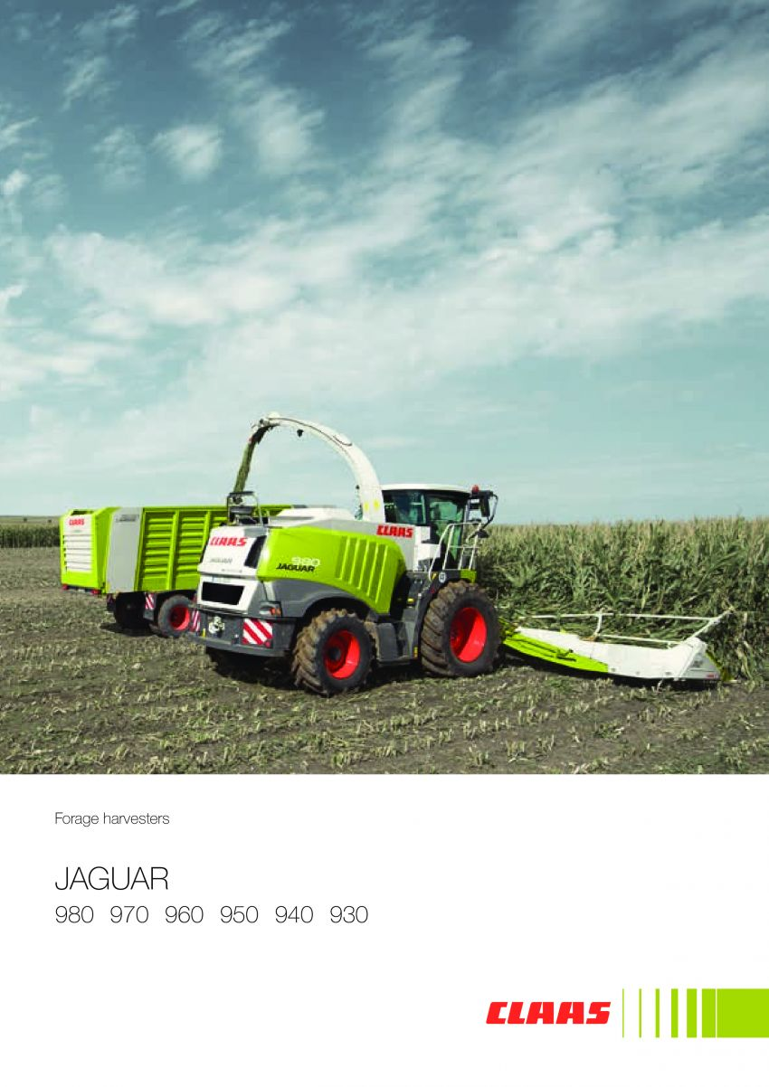 Claas Jaguar Forage Harvesters 980 970 960 950 940 930