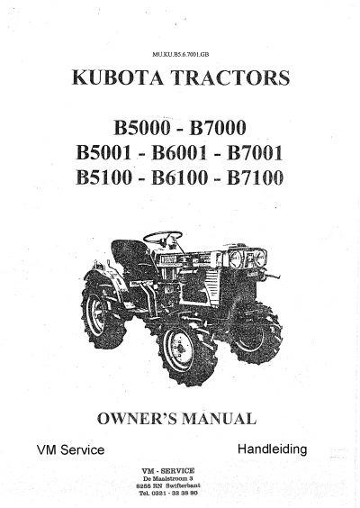 kubota b7000 gebruikers forum